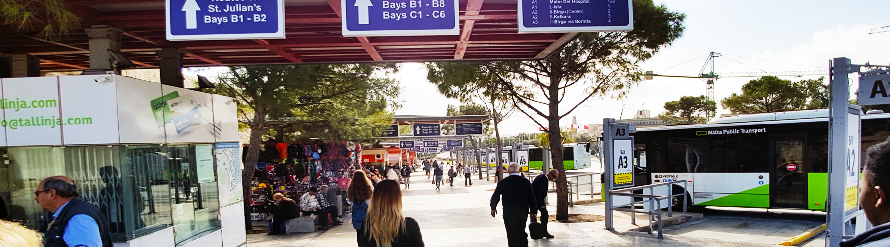 malta dil okulu sonrası otobüs terminallerini kullanarak ülke içinde seyahat edebilirsiniz.